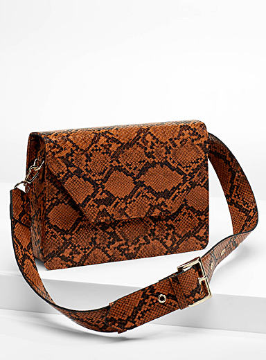 Chic python shoulder bag