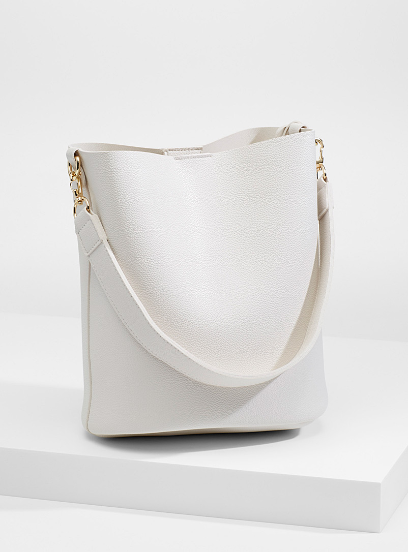 Bucket tote - Tote Bags - Ivory White