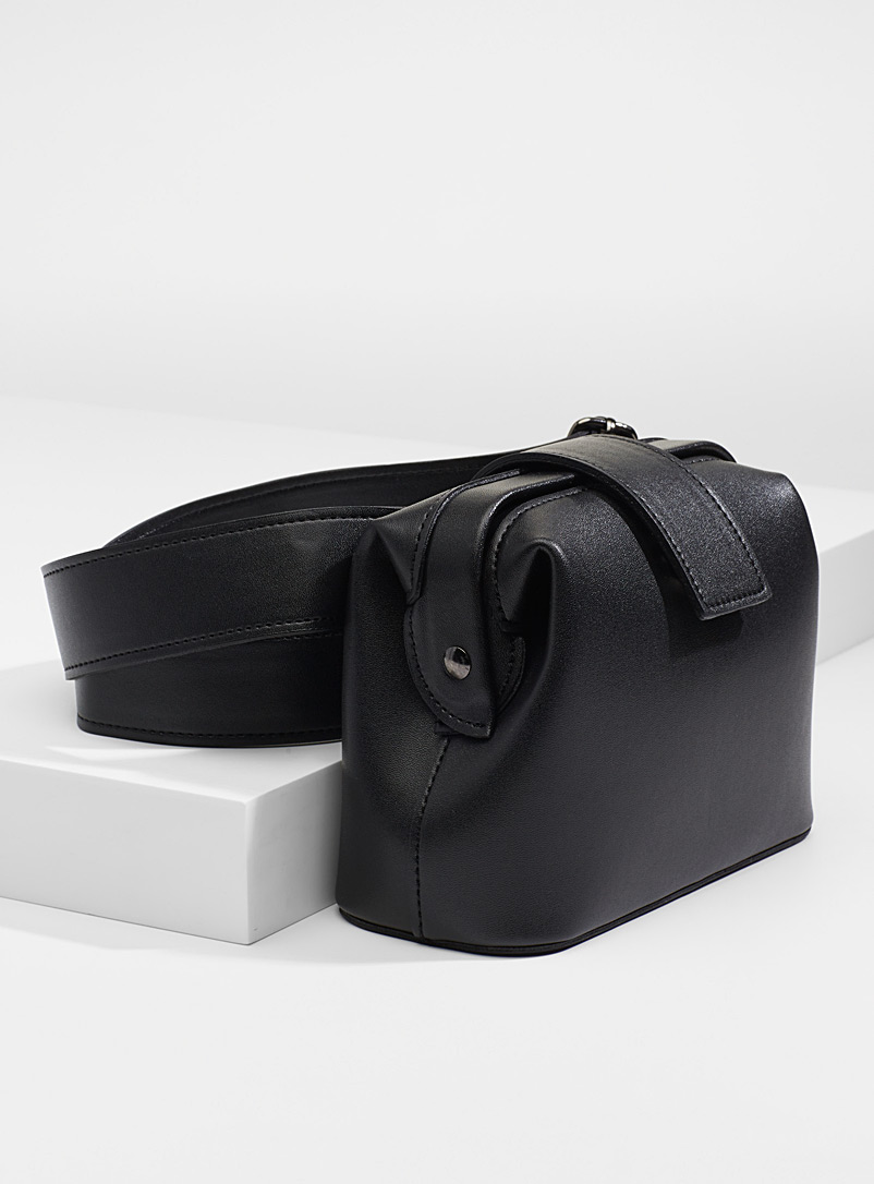Simons Black Shoulder belt bag for women