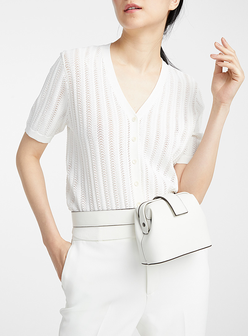 Simons White Shoulder belt bag for women