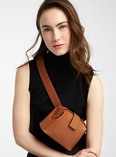 Simons Brown Shoulder belt bag for women