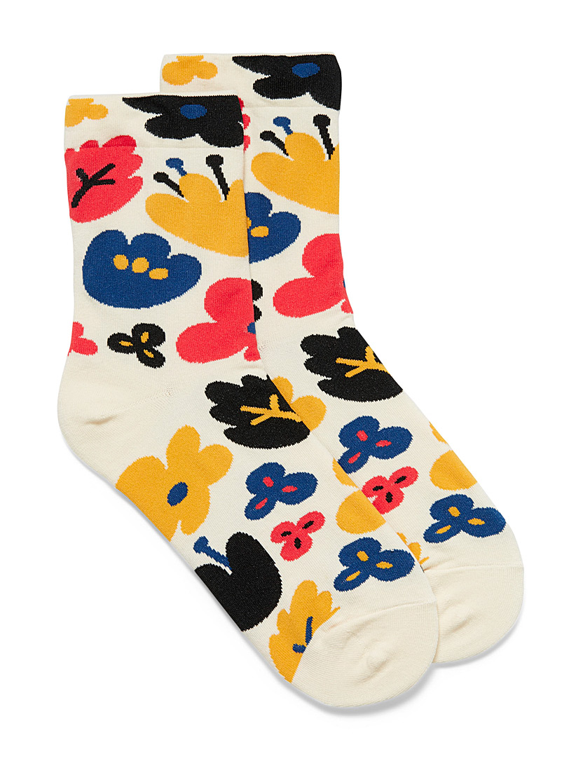 Simons Assorted  Oversized flower socks for women