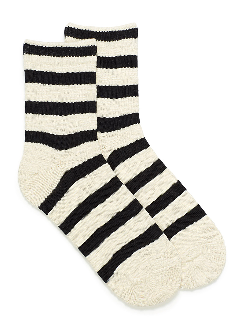 Striped retro socks - Socks - Black