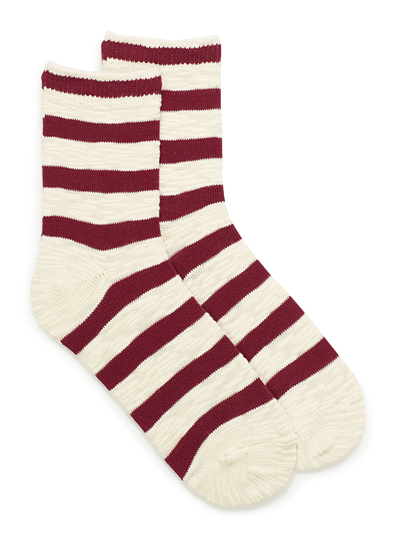 Striped retro socks - Socks - Red