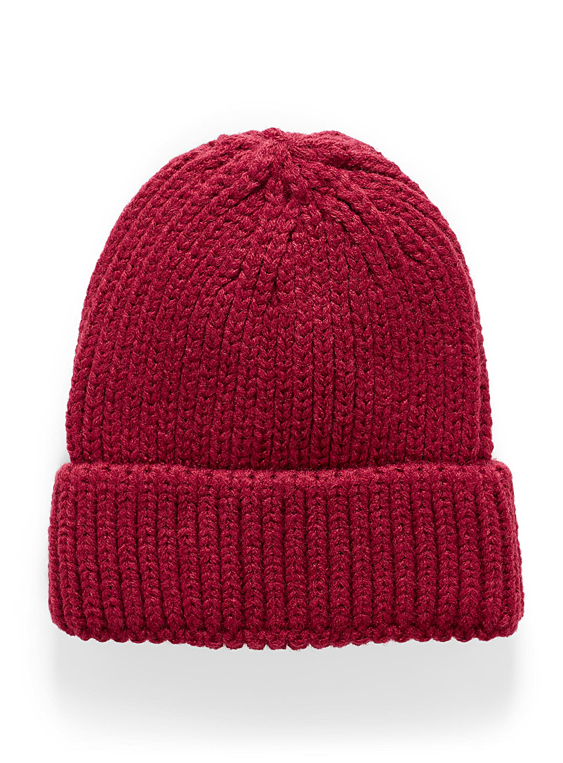 Knit cuffed tuque - Tuques & Berets - Ruby Red