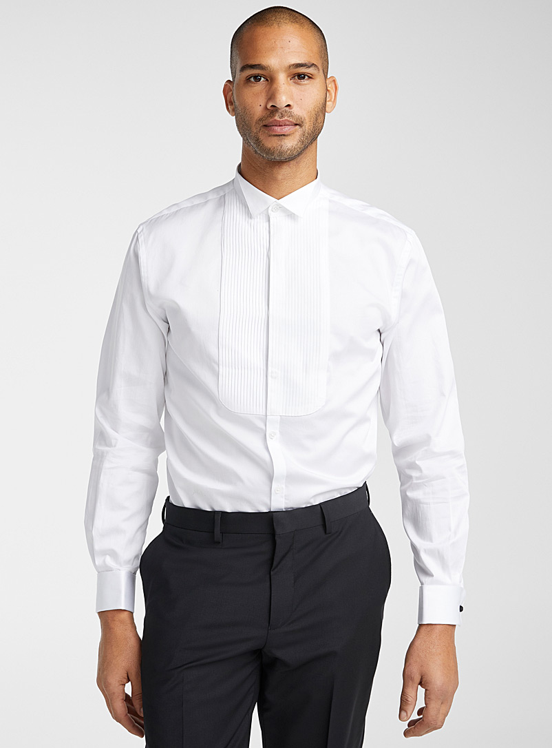 Tuxedo bib shirt  Semi-tailored fit - Modern Fit - White