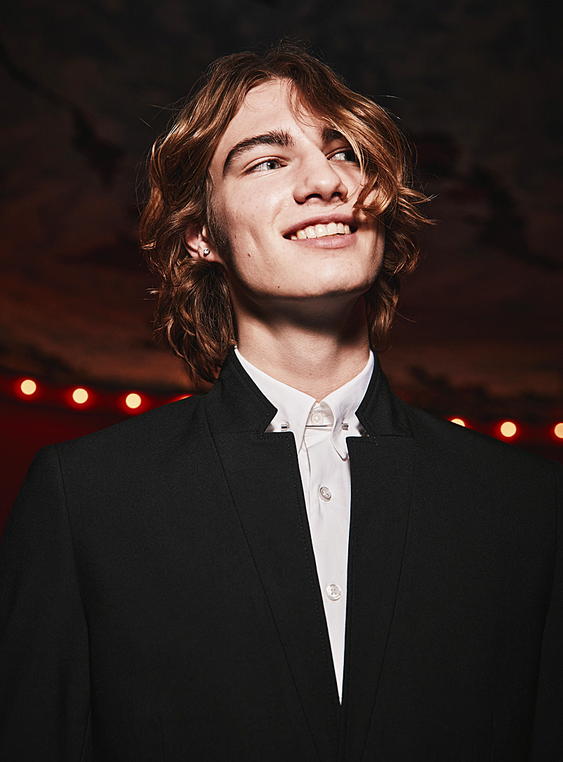 Le 31 White Metallic rod shirt  Modern fit for men
