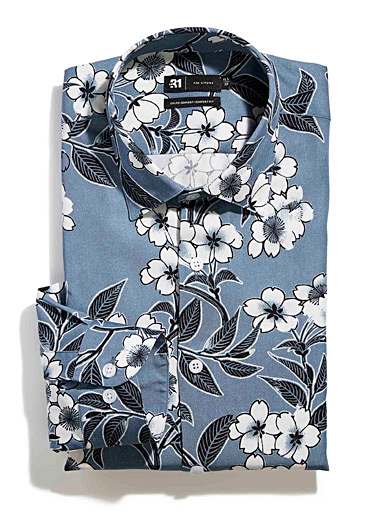 Floral pattern fluid shirt  Comfort fit