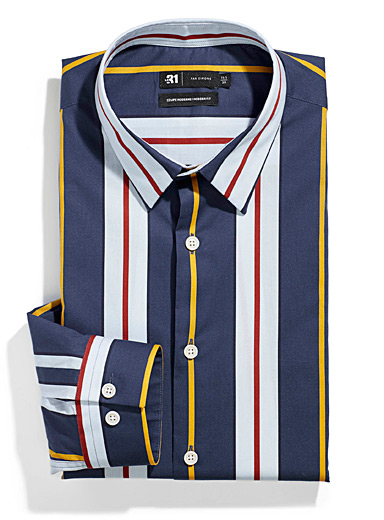 Framed vertical stripe shirt  Modern fit