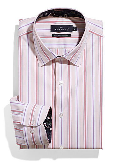 Ravelli Pink Pastel stripe shirt  Comfort fit for men