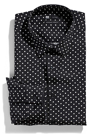 Contrast dot shirt  Comfort fit