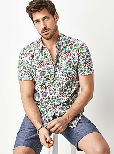 Liberty floral shirt <br>Semi-tailored fit
