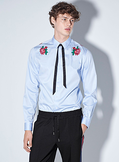 Placed roses shirt  Semi-tailored fit