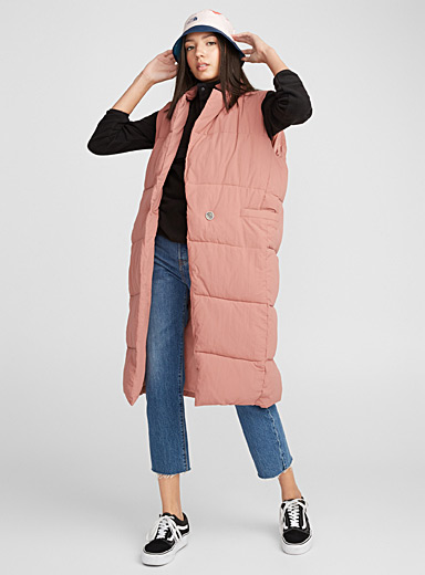 Long quilted loose jacket