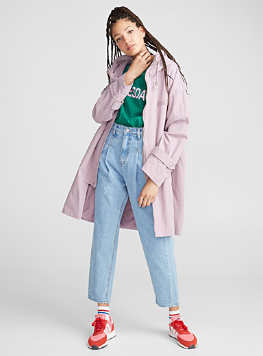 Le parka taille ajustable lilas