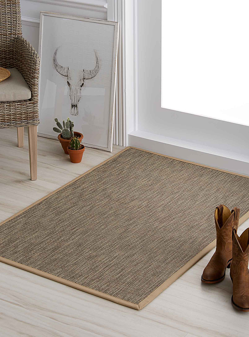 Heathered non-slip mat  90 x 130 cm - Carpets - Dark Brown