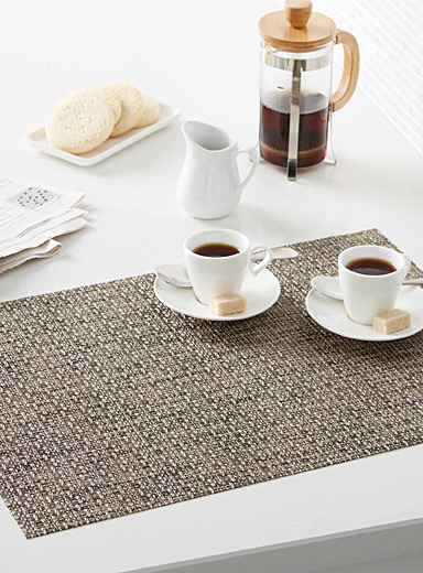 Heather braided vinyl place mat