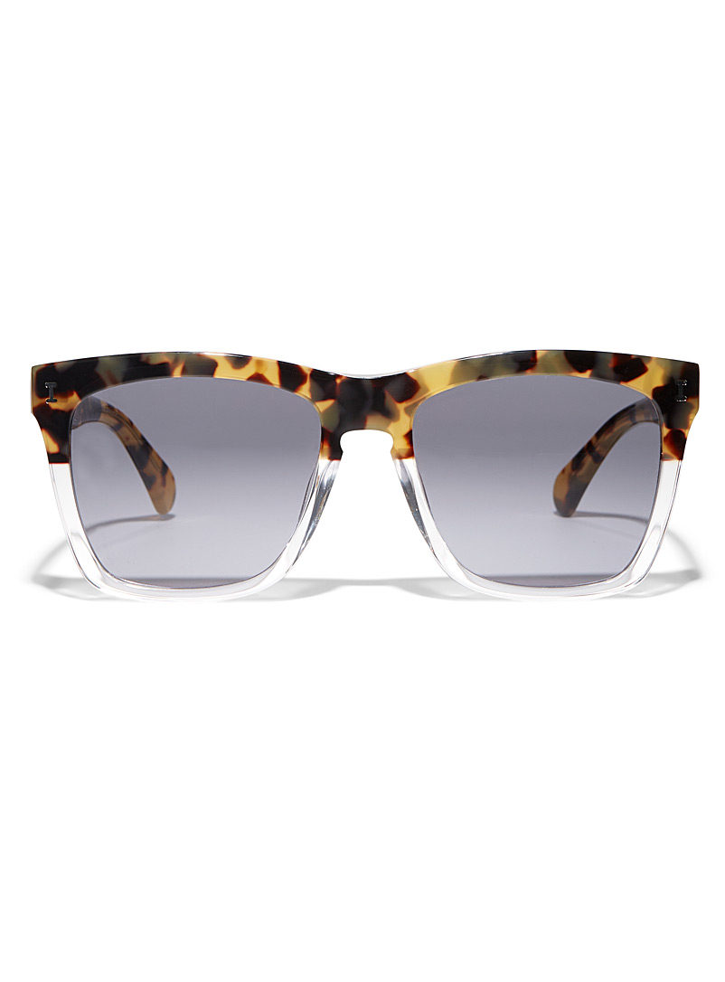 Illesteva Light Brown Los Feliz square sunglasses for women
