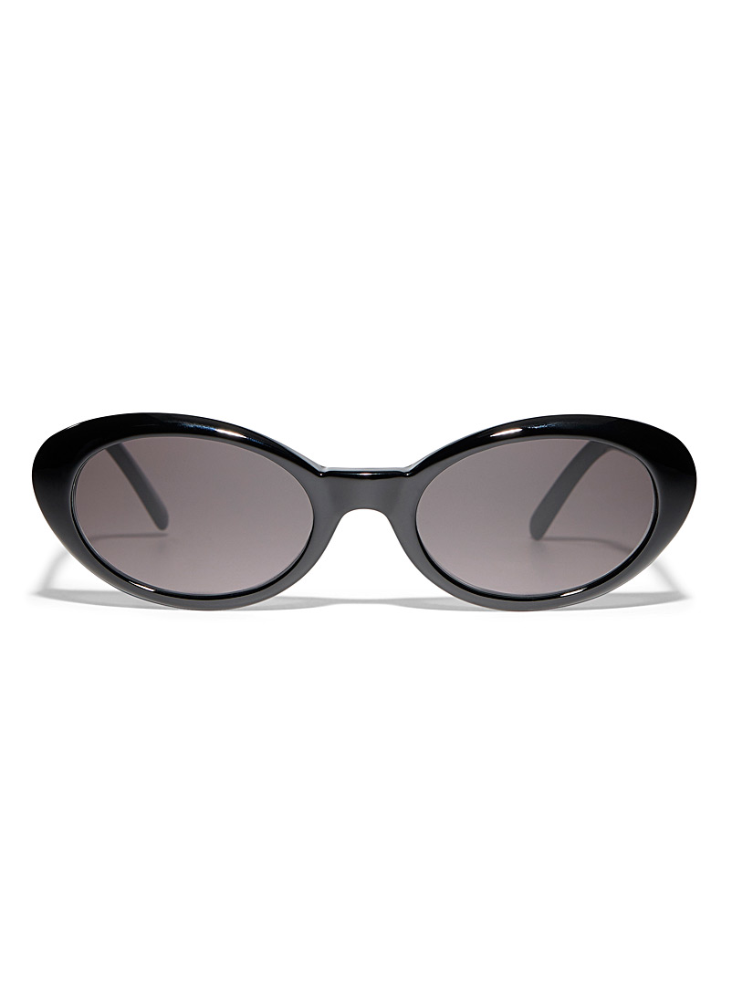 Illesteva Black Seattle oval sunglasses for women
