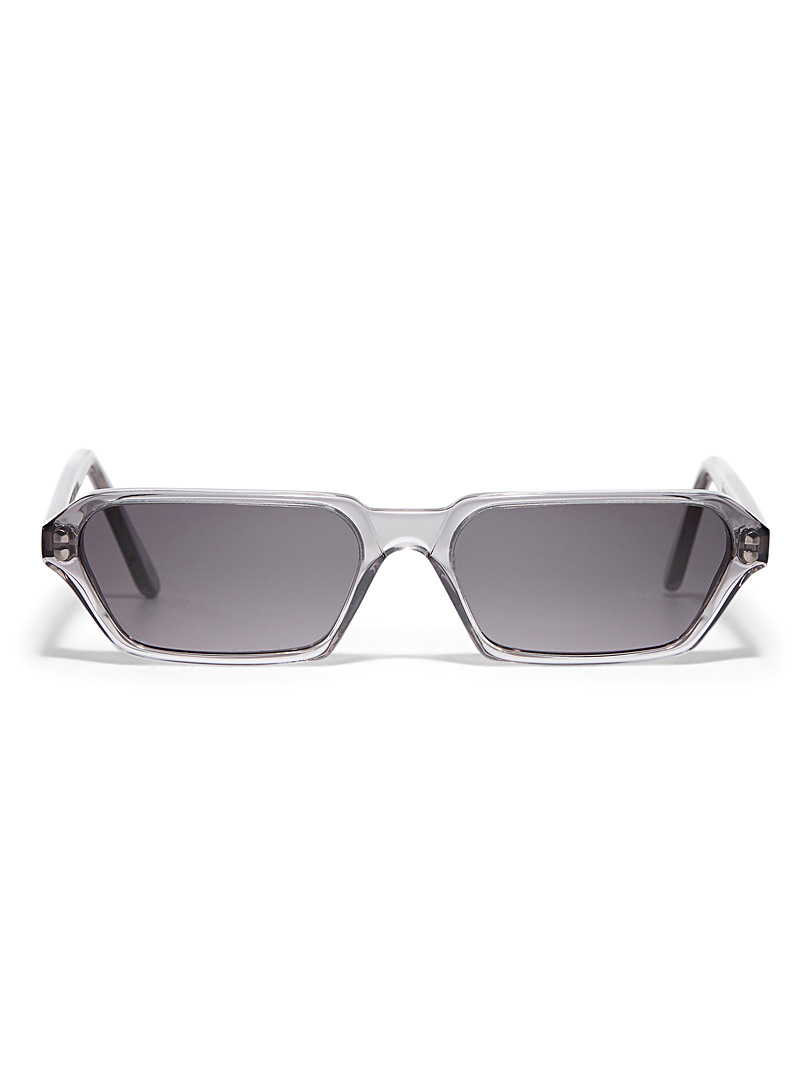Illesteva Silver Baxter II rectangular sunglasses for women