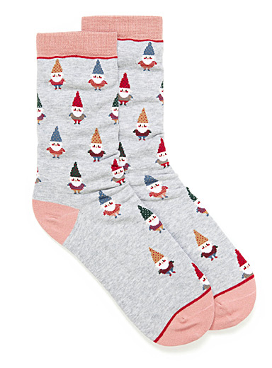Red-cheeked gnomes socks