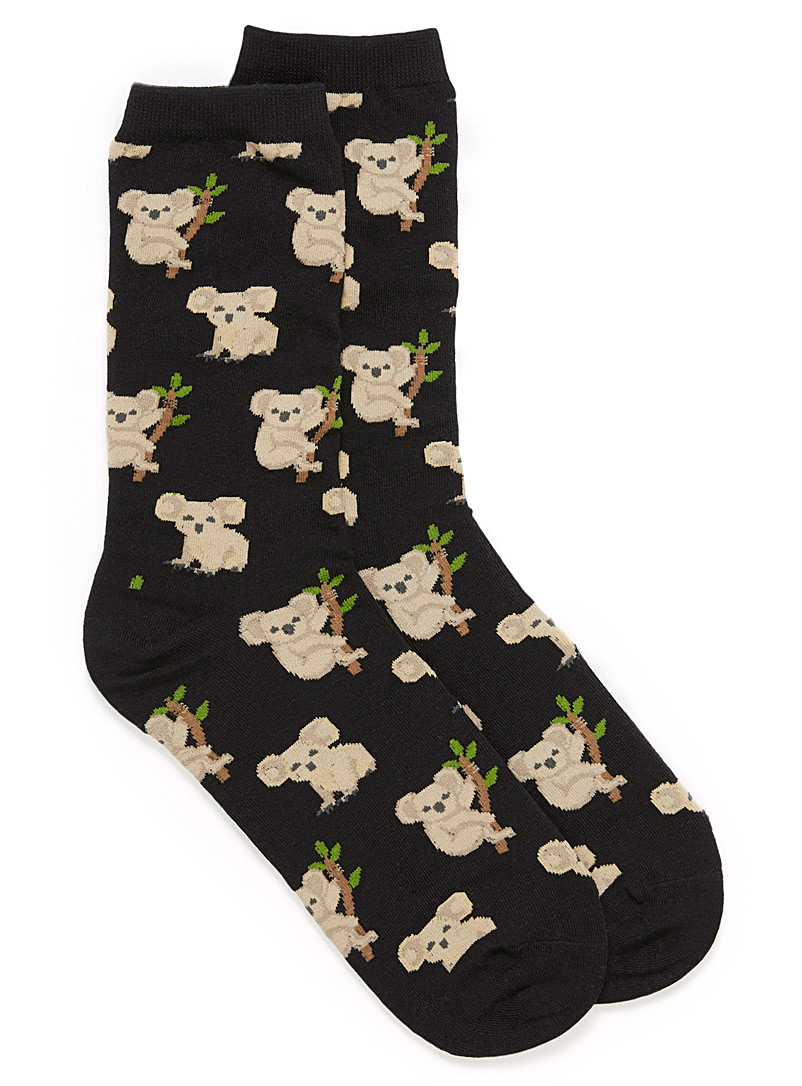 Cozy animal socks - Socks - Patterned Black