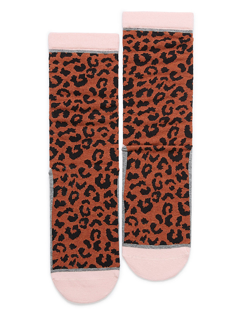 Wild animal ankle socks - Socks - Patterned Brown