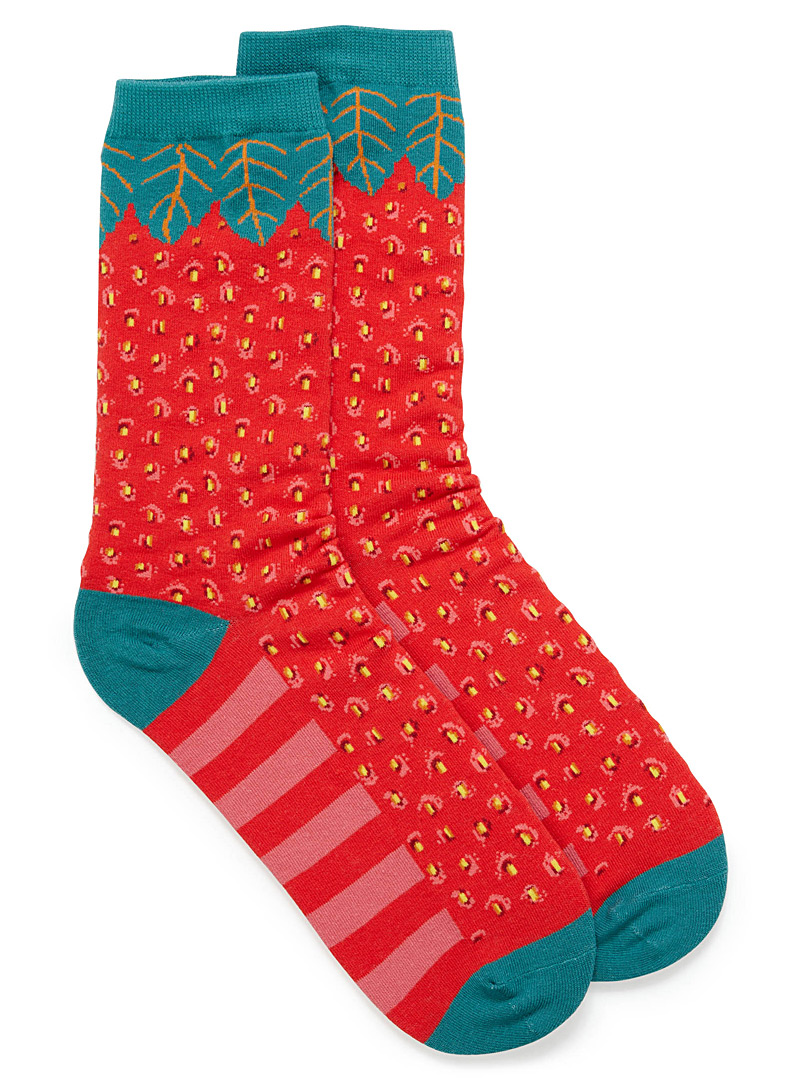 Fun ankle socks - Socks - Red