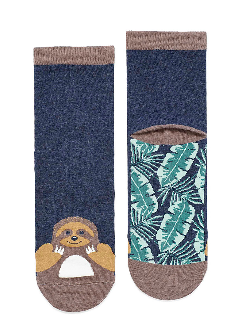 Cheerful animal ankle socks