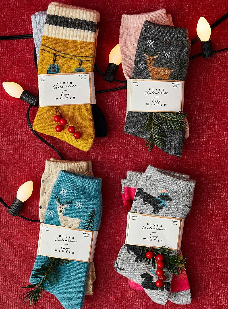 Alpine trip knit socks  Set of 2