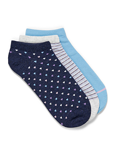 Classic pattern ped socks Set of 3