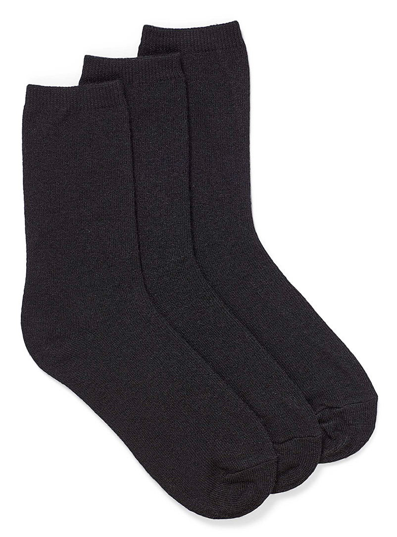 Touch of wool basic socks Set of 3