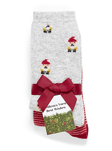 Stripes and elf socks  Set of 2