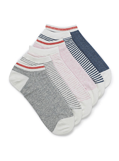 Worker-inspired ped socks  Set of 6