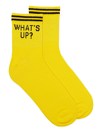 Playful message athletic socks