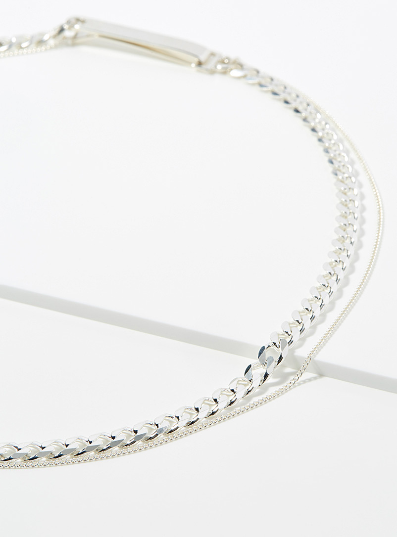 Saskia Diez Silver Identity no 2 choker for women
