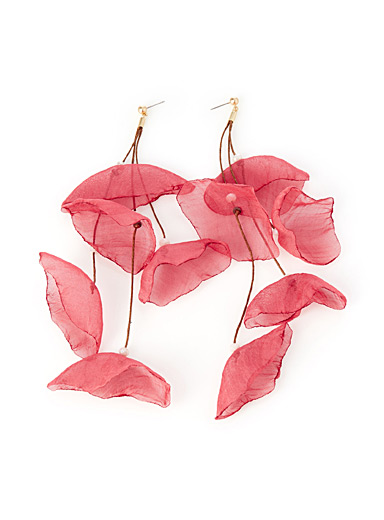 Sheer petal earrings