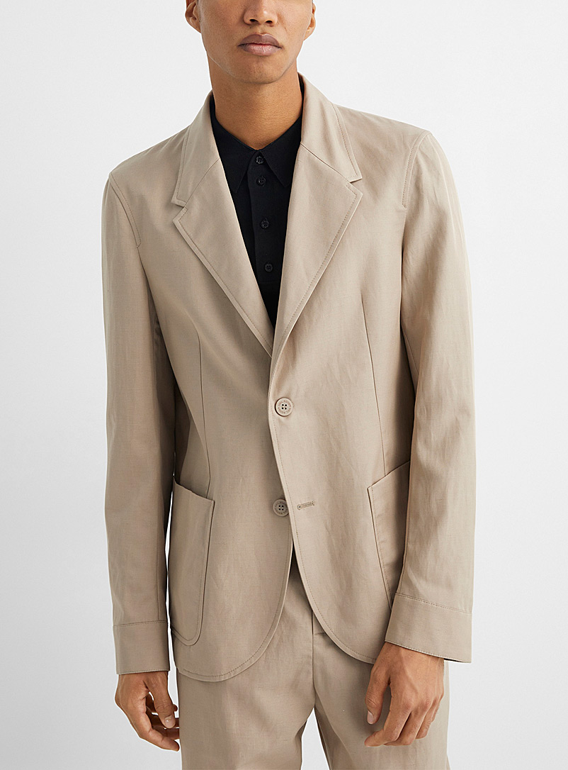 Neil Barrett Mossy Green Deconstructed fitted jacket for men