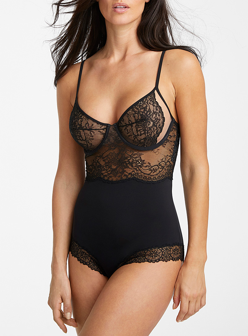 La Perla Black Bianca bodysuit for women