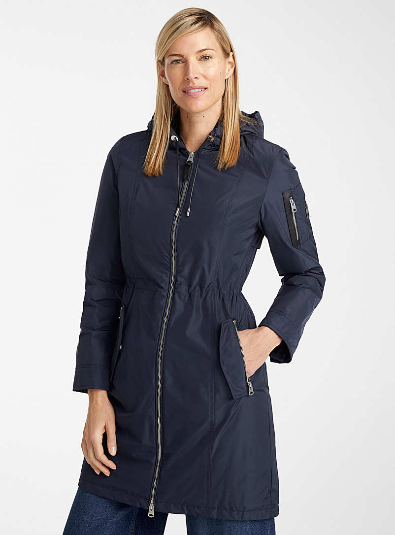 Mackage Marine Blue Casey down rain parka for women