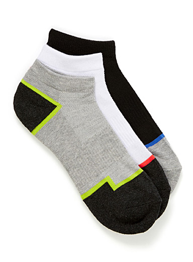 Colourful insert ped sock 3-pack