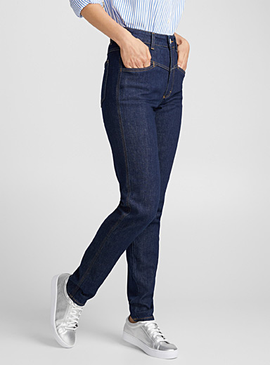 Graphic high-rise jean