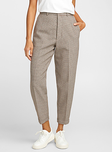 Colourful houndstooth pant