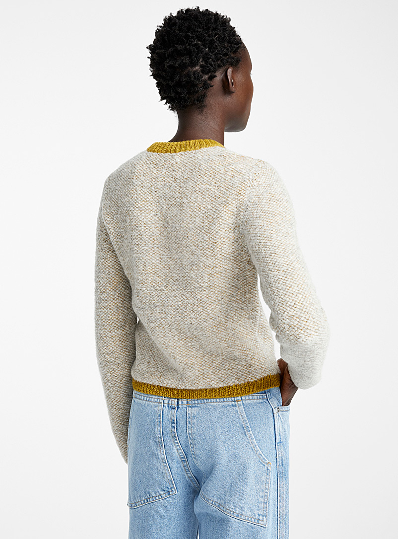 Two-tone Clavicle sweater - Eckhaus Latta - Light Brown