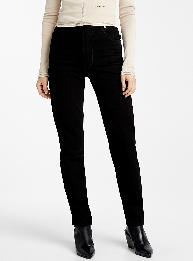 Eckhaus Latta Black EL classic jean for women