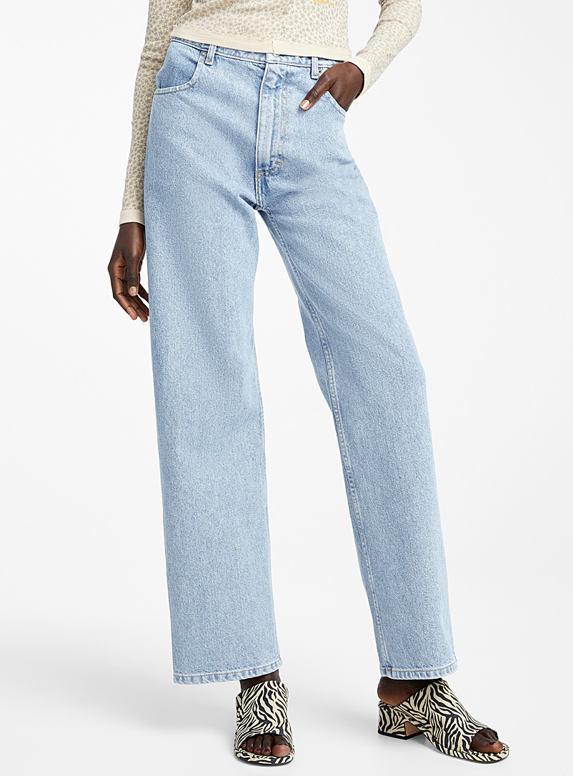 Eckhaus Latta Blue Wide leg jean for women
