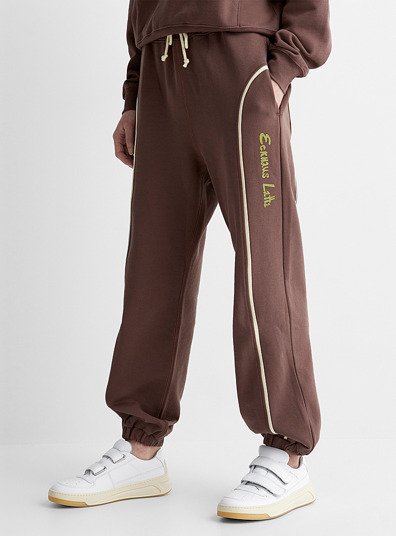 Eckhaus Latta Brown Accent cord sweatpant for women