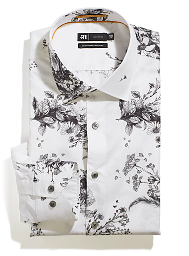 Dark bouquet shirt  Modern fit