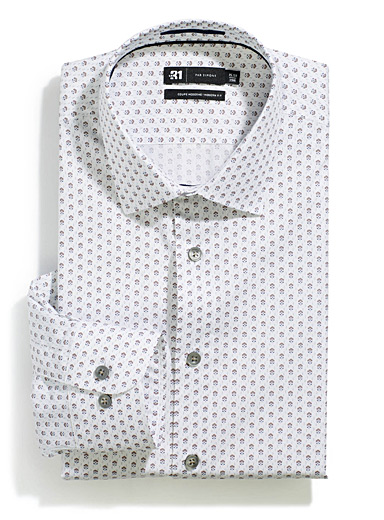 Micro-floral shirt <br>Modern fit