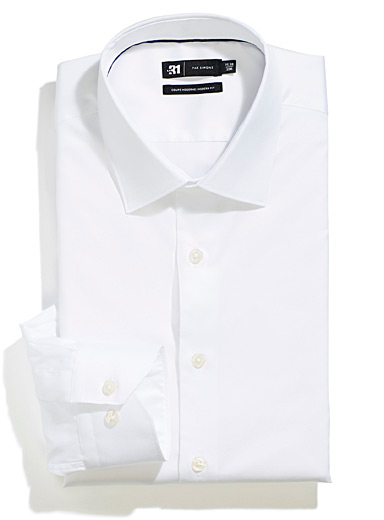 Easy-care satiny cotton shirt  Modern fit